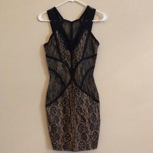 Forever 21 black & nude lace dress